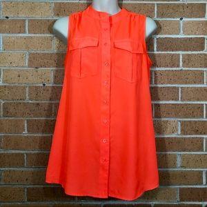 J Crew size 2 orange draped pocket Tee